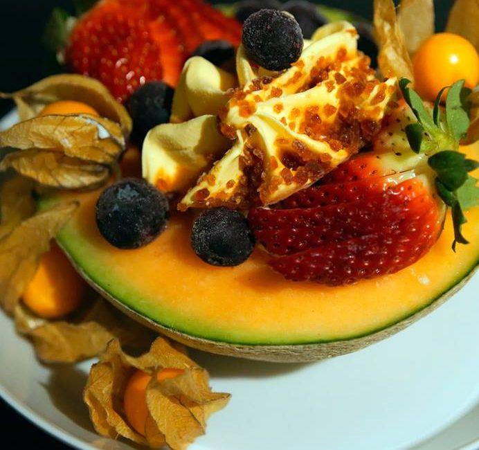 Melonen-Eisbecher