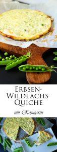 Erbsen Wildlachs Quiche mit Rosmarin