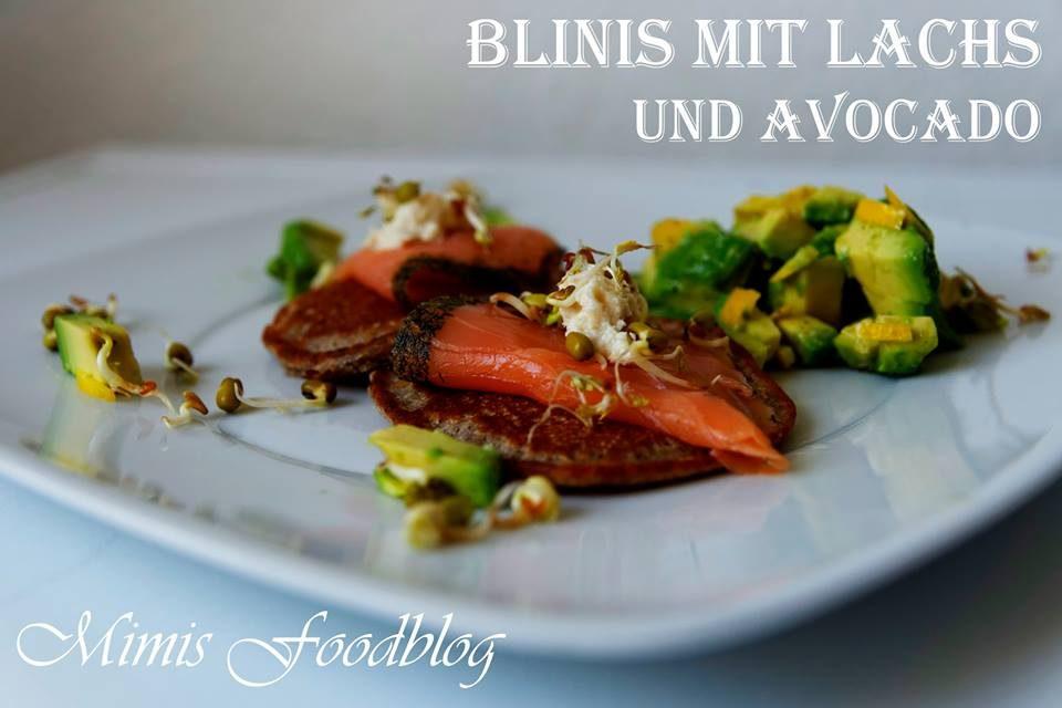 Blinis mit Lachs und Avocado