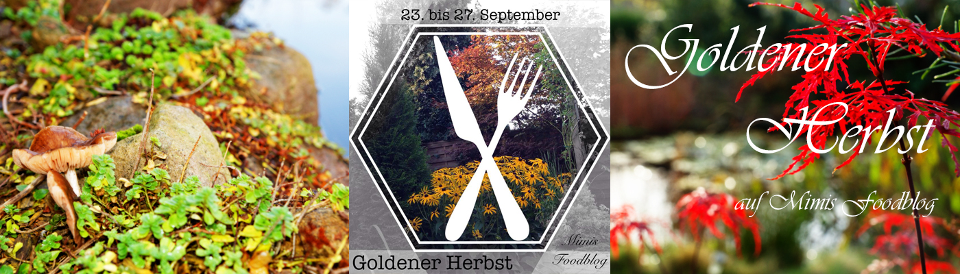 Banner-goldener Herbst