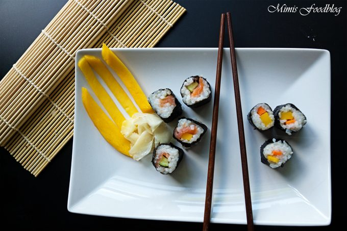 Sushi mit Räucherlachs