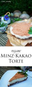 vegane Minz Kakao Torte