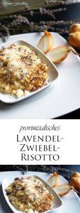 provinzialisches Lanvendel Zwiebel Risotto