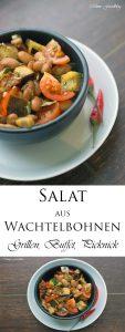 Salat aus Wachtelbohnen