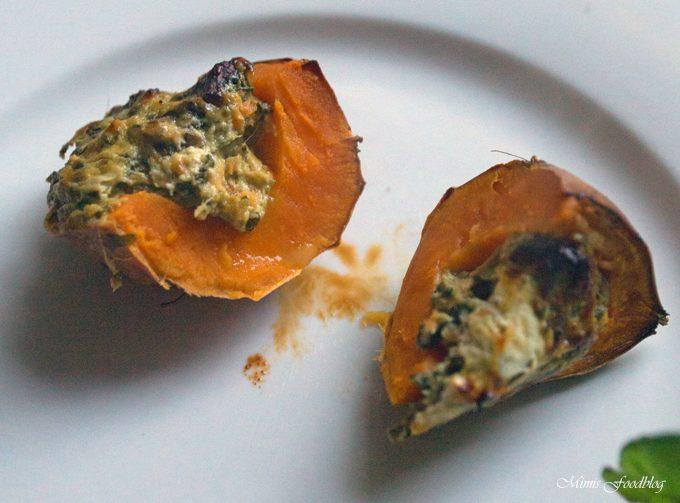 Süßkartoffel mit Mangold-Füllung