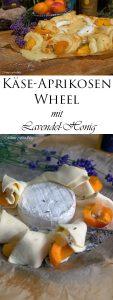 Käse Aprikosen Wheel mit Lavendel Honig