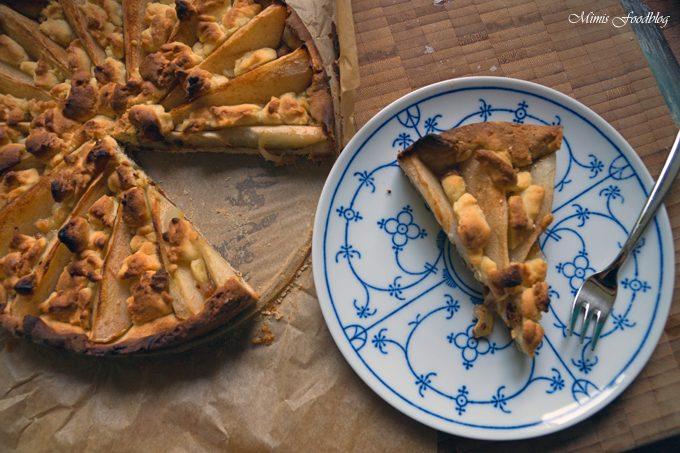 Birnen Kekscreme Kuchen