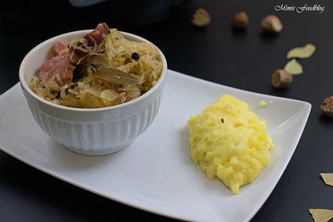 Sauerkraut mit Kassler und Kartoffelbrei