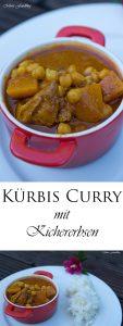 Kürbis Curry mit Kichererbsen