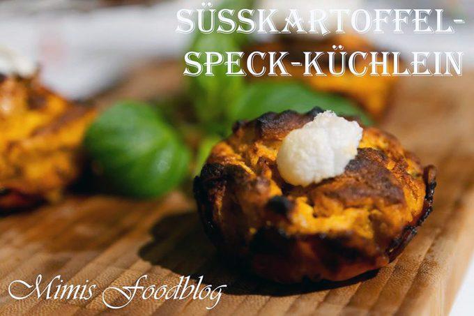 Süßkartoffel-Speck-Küchlein
