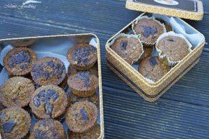 Gesunde Buchweizen Schoko Muffins mit Karotten und Haferflocken 2