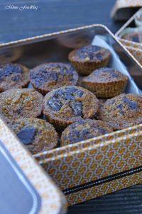 Gesunde Buchweizen Schoko Muffins mit Karotten und Haferflocken 3