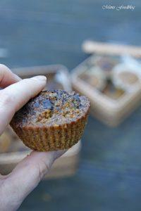 Gesunde Buchweizen Schoko Muffins mit Karotten und Haferflocken 4