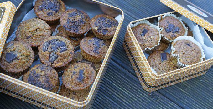 Gesunde Buchweizen Schoko Muffins mit Karotten und Haferflocken 6