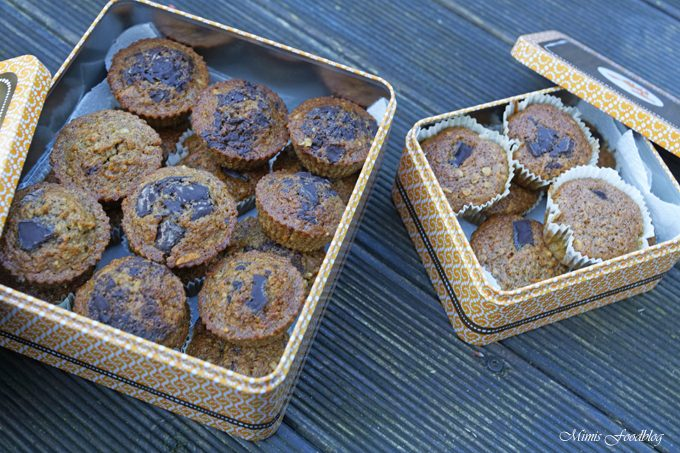 Gesunde Buchweizen-Schoko-Muffins mit Karotten und Haferflocken