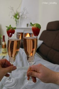 Etikettengestaltung Sag's mit Rotkäppchen von Herzen Erdbeersorbet von Mimis Foodblog 11
