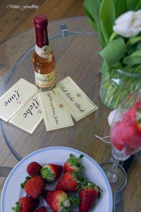 Etikettengestaltung Sag's mit Rotkäppchen von Herzen Erdbeersorbet von Mimis Foodblog 13