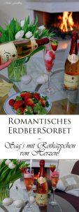 Etikettengestaltung Sag's mit Rotkäppchen von Herzen Erdbeersorbet von Mimis Foodblog 14 1