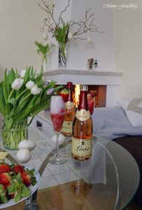 Etikettengestaltung Sag's mit Rotkäppchen von Herzen Erdbeersorbet von Mimis Foodblog 7