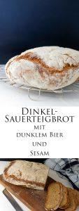 Dinkel Sauerteigbrot mit dunklem Bier und Sesam 7