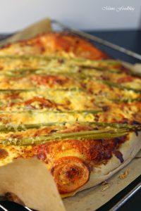 Grüne Spargelpizza mit Dinkelboden 3