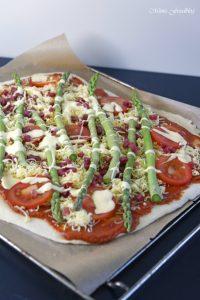 Grüne Spargelpizza mit Dinkelboden 5