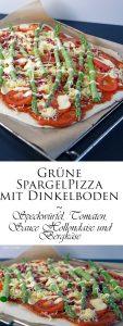 Grüne Spargelpizza mit Dinkelboden 7