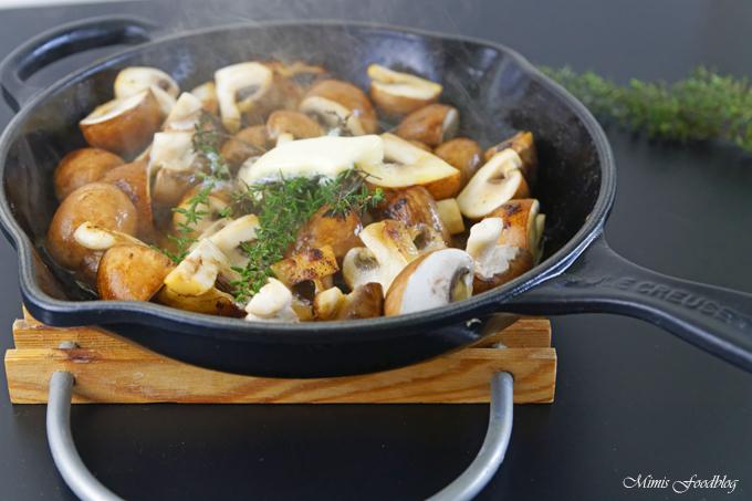 frische pilze richtig zubereiten