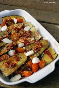 Aubergine al forno mit Hirse ein herzhafter vegetarischer Auflauf 1