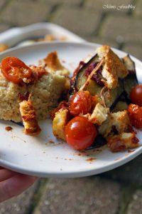 Aubergine al forno mit Hirse ein herzhafter vegetarischer Auflauf 4