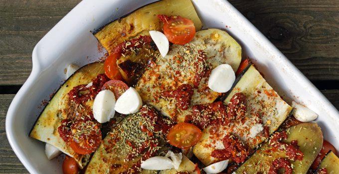 Aubergine al forno mit Hirse ein herzhafter vegetarischer Auflauf 8