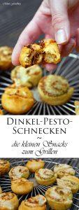 Dinkel Pesto Schnecken die kleinen Snacks zum Grillen 6
