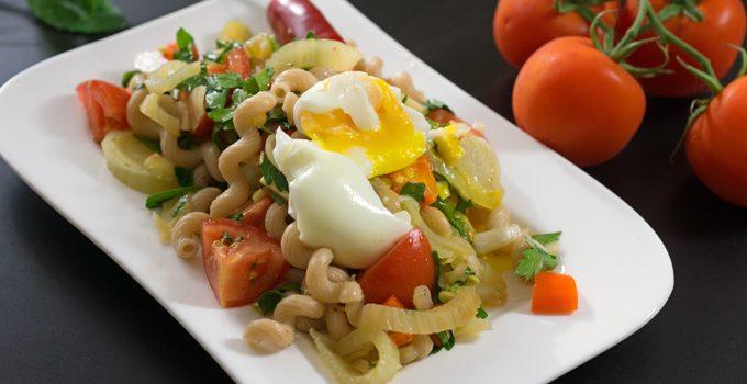 Fenchel Pasta Salat mit Chili und Minze Ein fruchtig frischer Sommergenuss 8