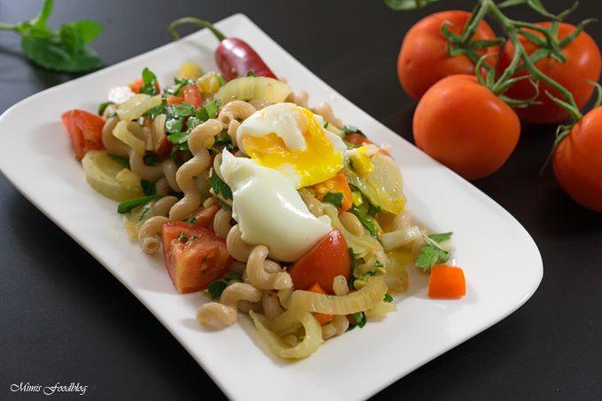 Fenchel-Pasta Salat mit Chili und Minze ~ Ein fruchtig, frischer Sommergenuss