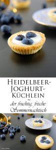Mini Heidelbeer Joghurt Küchlein der fruchtig frische Sommernachtisch 11