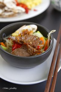 Rindfleisch mit Glasnudeln ein leckeres asiatisches Bowl Rezept 5
