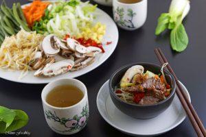 Rindfleisch mit Glasnudeln ein leckeres asiatisches Bowl Rezept 6