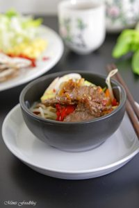 Rindfleisch mit Glasnudeln ein leckeres asiatisches Bowl Rezept 7