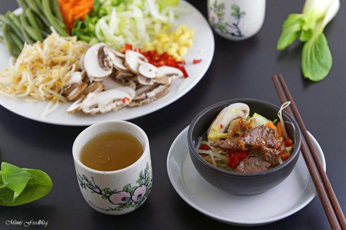 Rindfleisch mit Glasnudeln ~ ein leckeres asiatisches Bowl Rezept