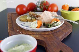 Tomateneis die deftige Eisvariation mit mediterranen Häppchen 2