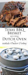 Texas BBQ Brisket aus dem Dutch Oven mit smoky Baked Beans rustikales Outdoor Cooking 19 1