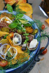 berbackene Chio Tortillas mit Pilzen und Ziegenkäse 1
