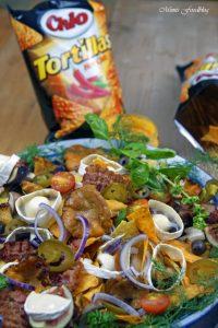berbackene Chio Tortillas mit Pilzen und Ziegenkäse 10