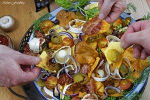 berbackene Chio Tortillas mit Pilzen und Ziegenkäse 7