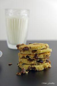 Cranberry Schoko Cookies mit Limette ein Ausflug in die amerikanische Patisserie 2
