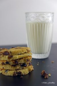 Cranberry Schoko Cookies mit Limette ein Ausflug in die amerikanische Patisserie 4