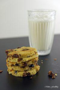 Cranberry Schoko Cookies mit Limette ein Ausflug in die amerikanische Patisserie 5