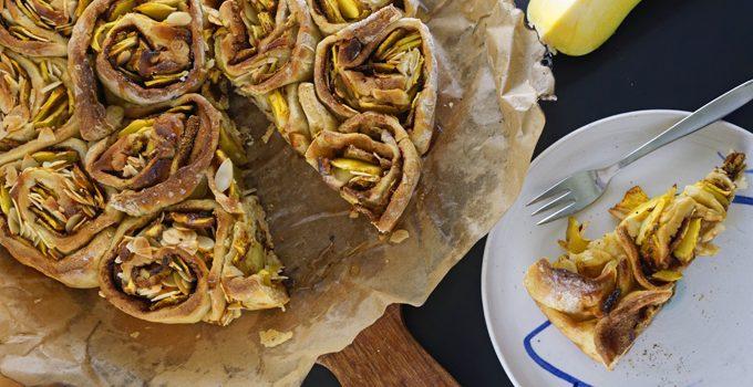 Kürbis Marzipan Mandel Kuchen aus dem Dutch Oven 12