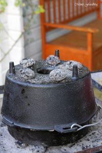 Kürbis Marzipan Mandel Kuchen aus dem Dutch Oven 14