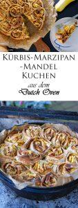 Kürbis Marzipan Mandel Kuchen aus dem Dutch Oven 15
